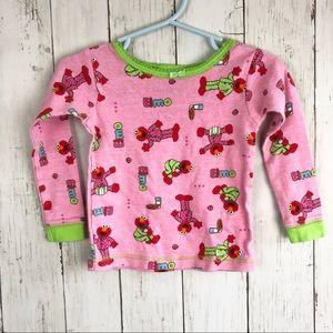 Sesame Street Pink Green Elmo Pajama Shirt 2T